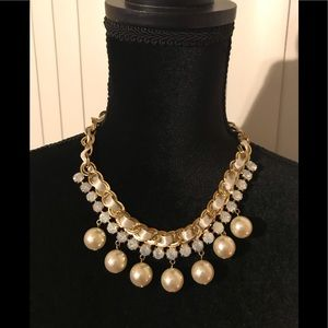 NWT pearl aurora borealis ribbon chain necklace
